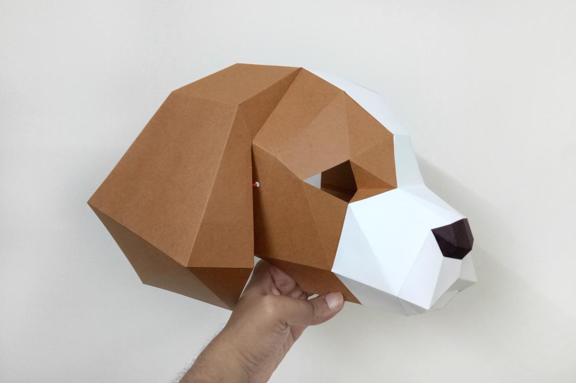 DIY Cocker Spaniel Mask - 3d papercraft example image 5