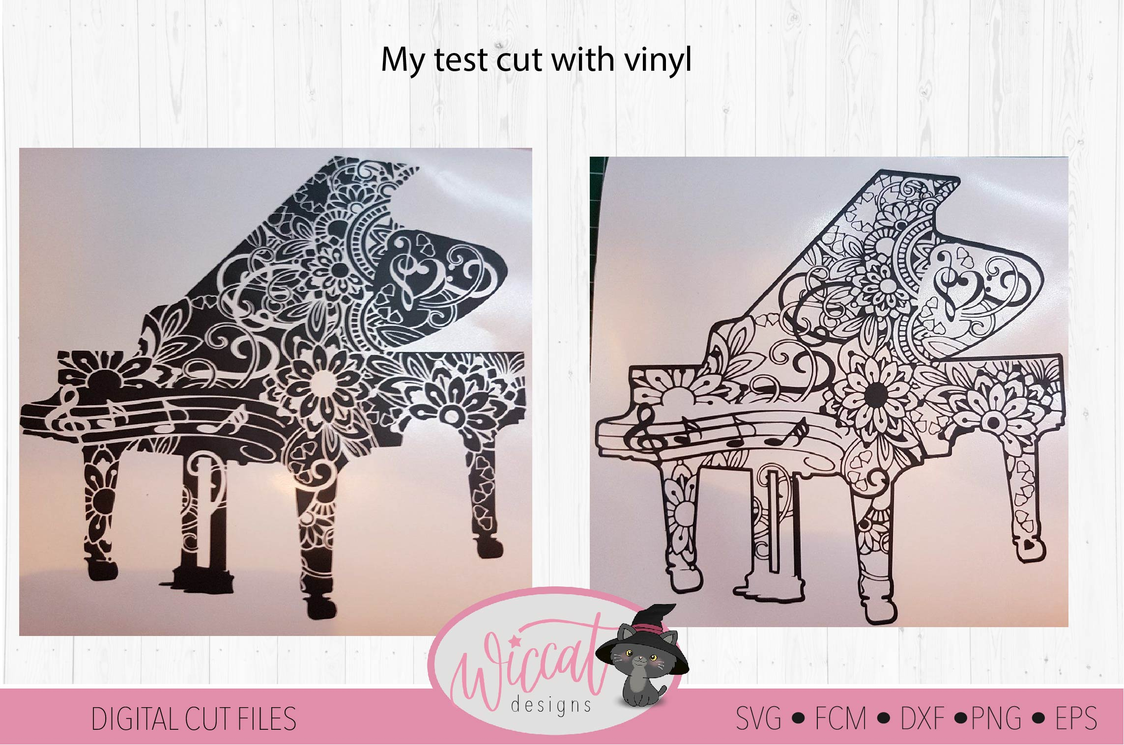 Doodle piano, music instrument, intricate cut file example image 3