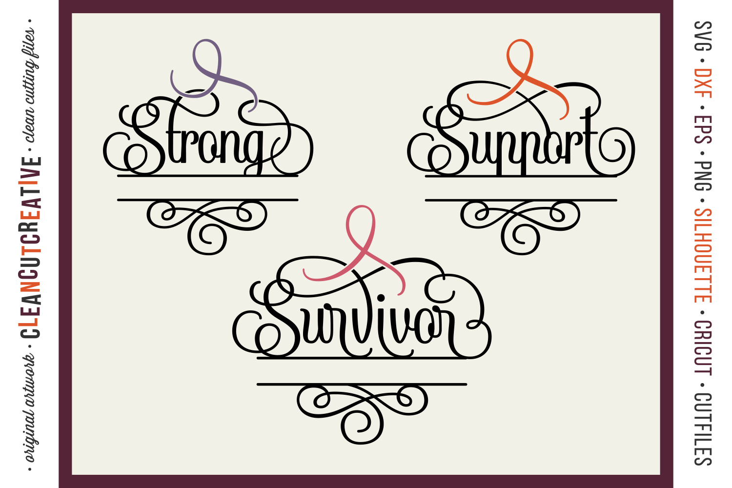 CANCER AWARENESS BUNDLE- any cause SVG cut file design example image 4