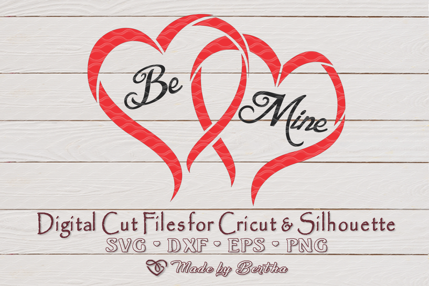 Be Mine for Valentine's Day - SVG cut file example image 2