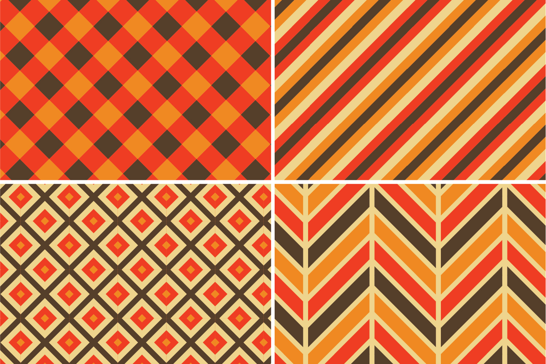 8 Seamless Autumn Patterns Set 2 example image 3