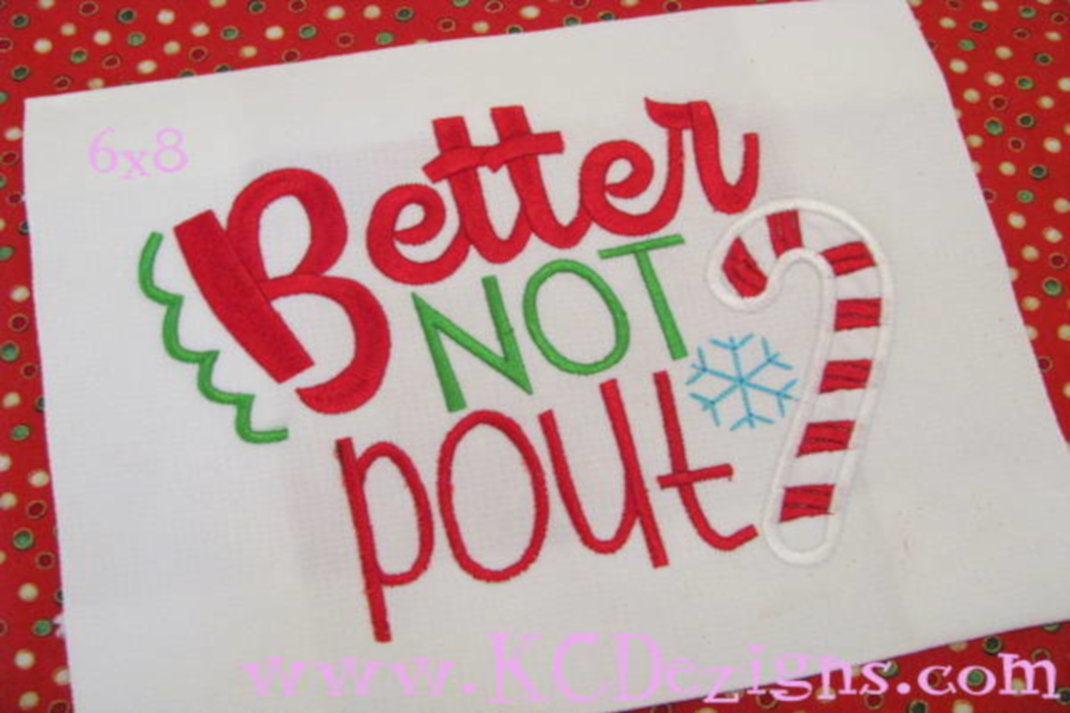 Better Not Pout Christmas Machine Applique Embroidery Design example image 2