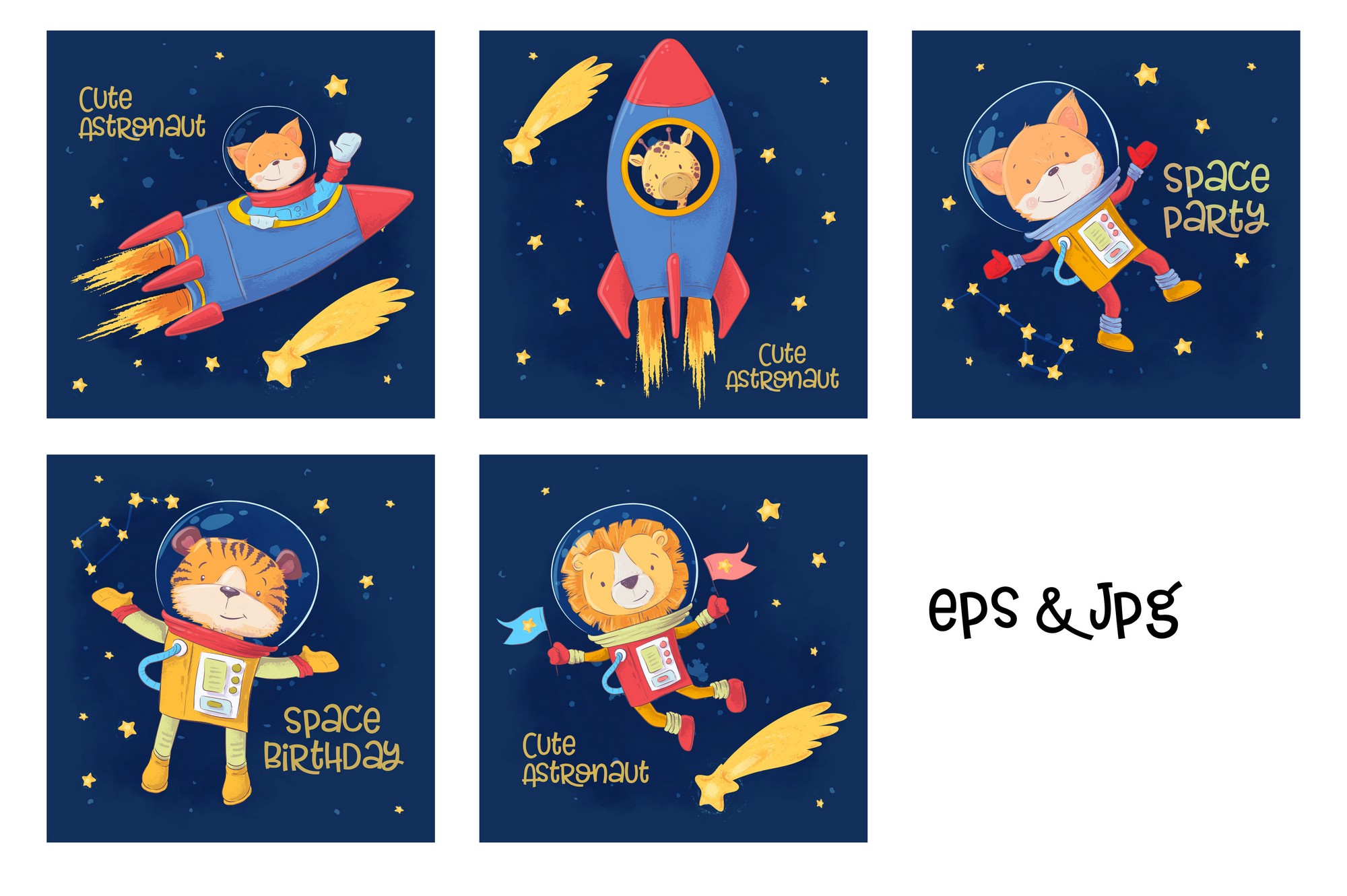 Space vector clip art example image 3