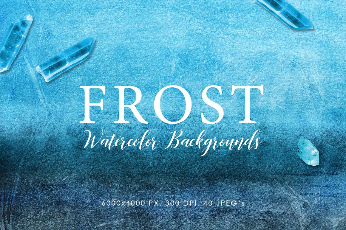 Frost Watercolor Backgrounds example image 1