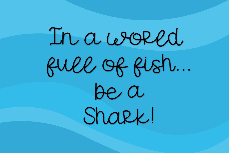 Shark Snacks - A Fun Script Font example image 3