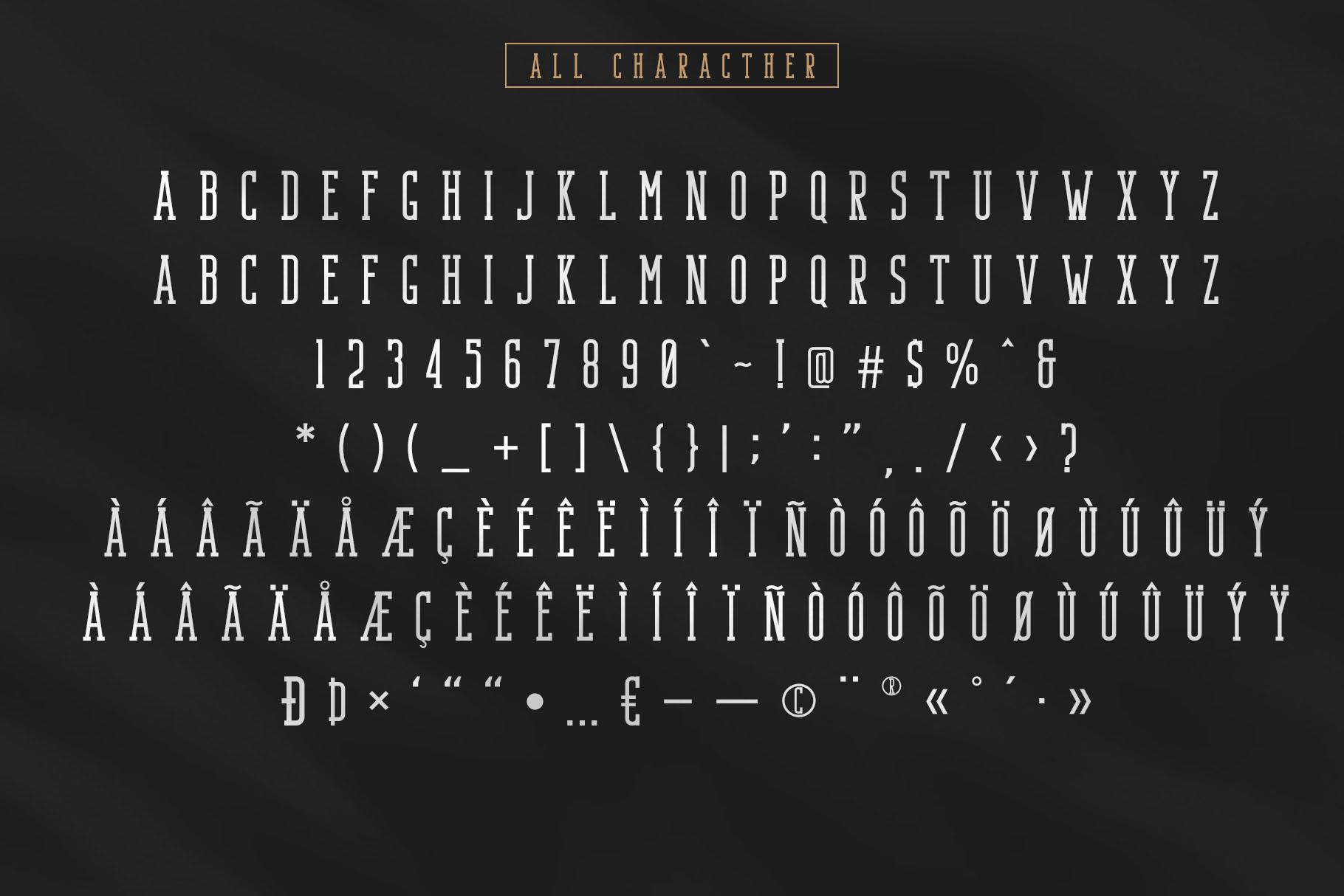 Bondie - Condensed Slab Serif Font example image 11