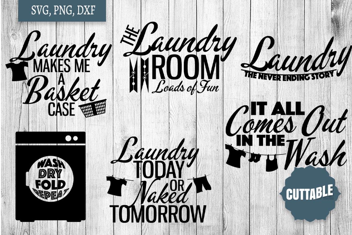 Laundry SVG bundle, Laundry cut file bundle, Home quote SVGs example image 2
