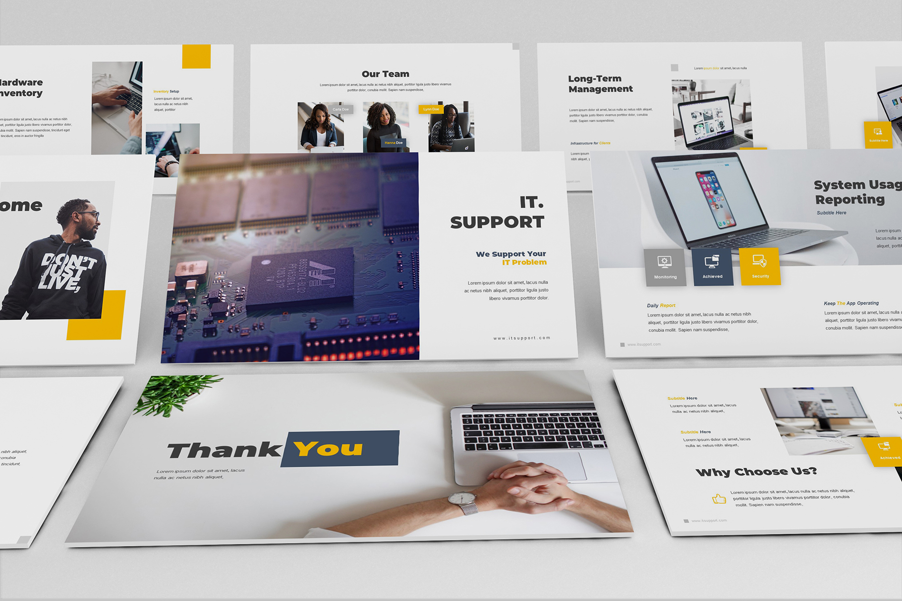 IT Support Google Slides Template example image 5