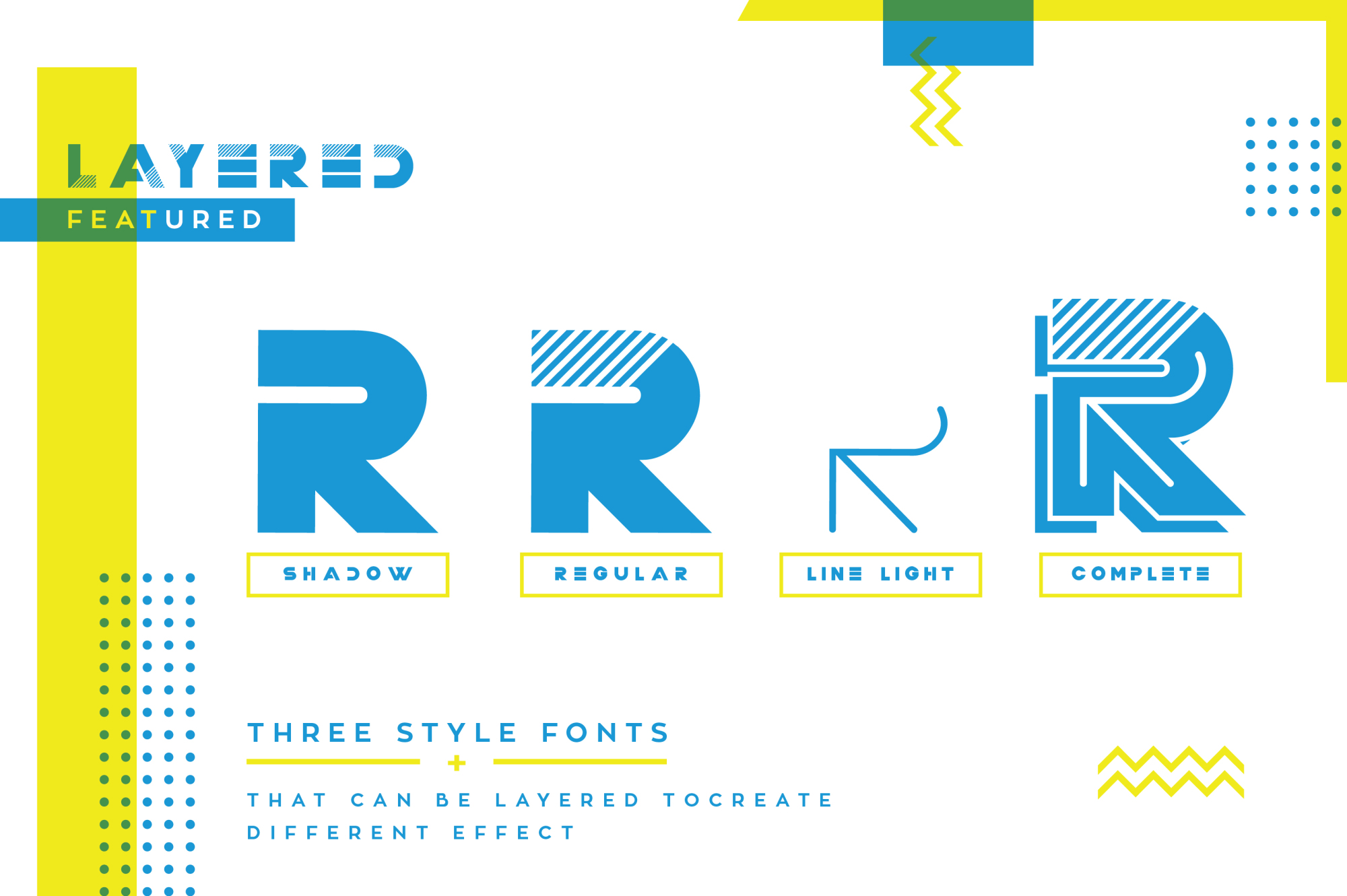 Trixie Layered Multiply Typeface example image 5