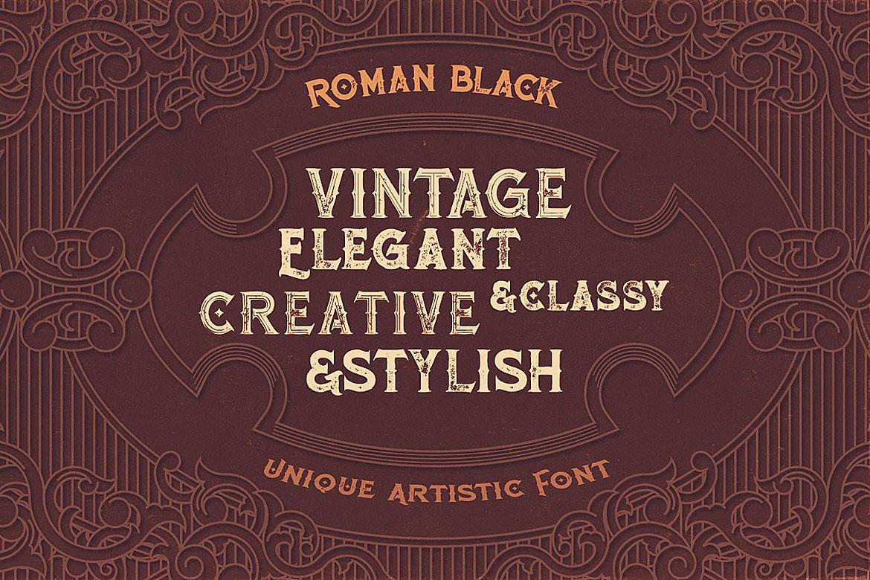 Roman Black - 8 Display Fonts example image 6