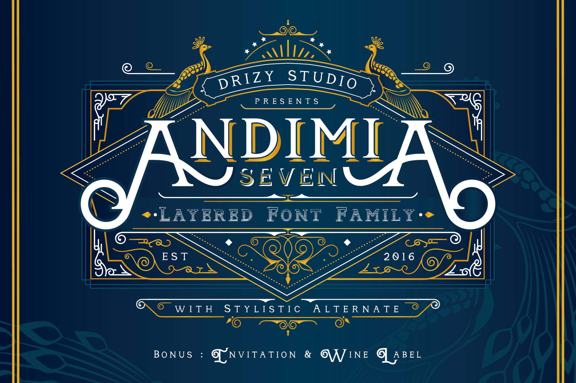 Andimia Layered Fonts Family example image 1