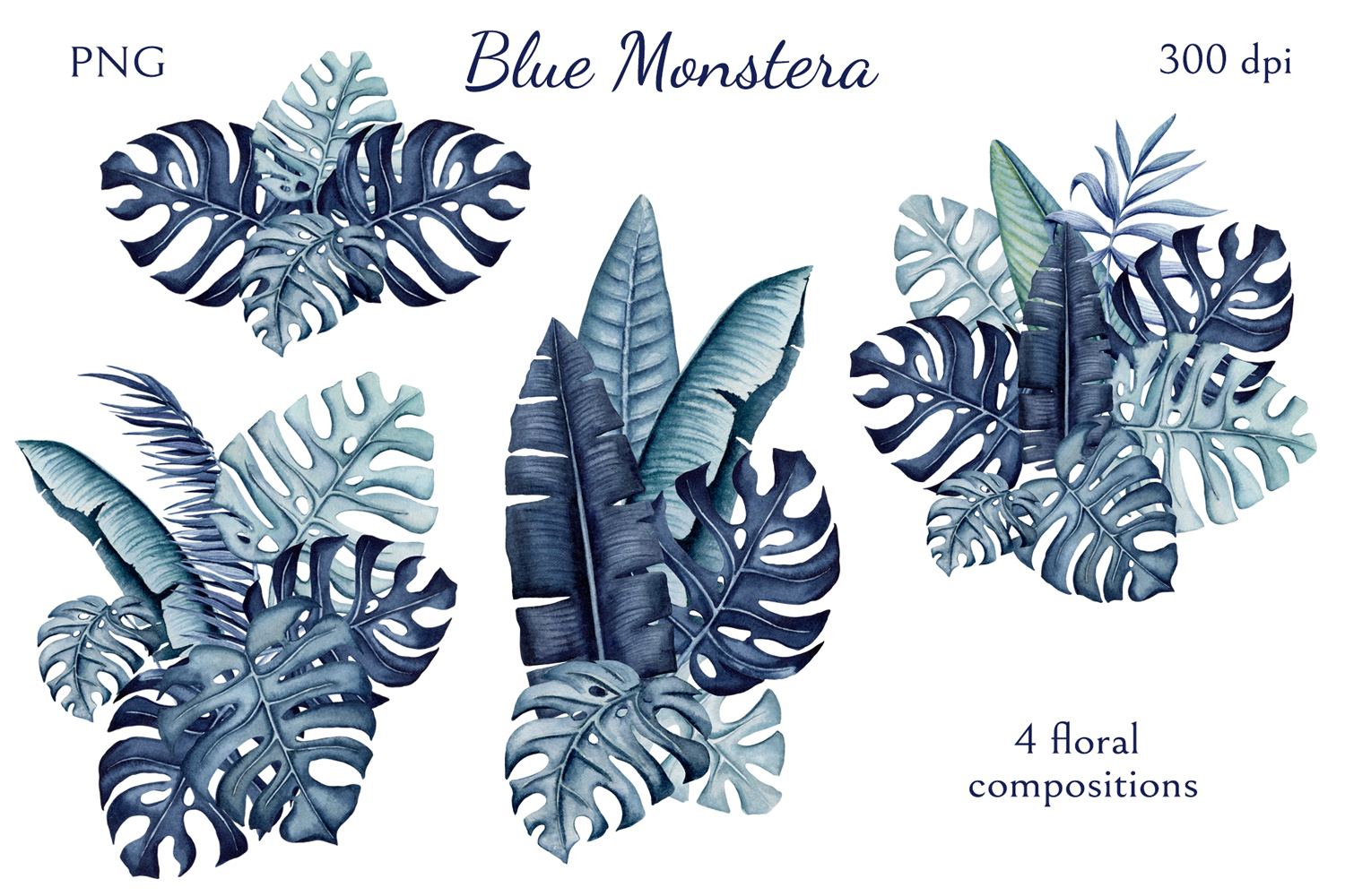 Blue Monstera example image 3