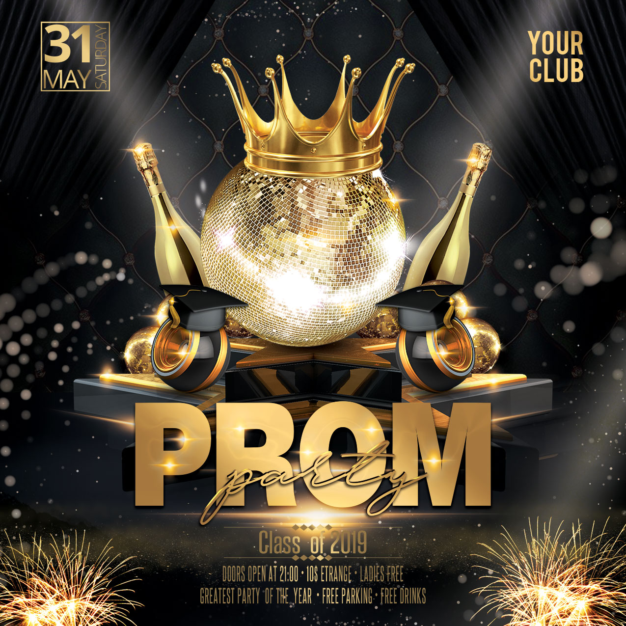 Prom Party Flyer example image 4