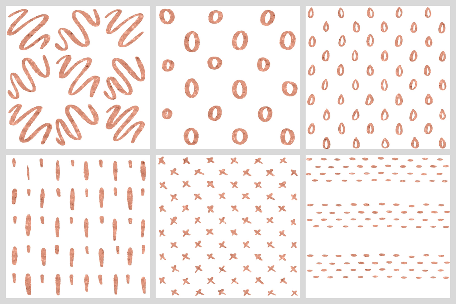 Abstract Rose Gold Seamless Patters - 30 Seamless Patterns example image 4
