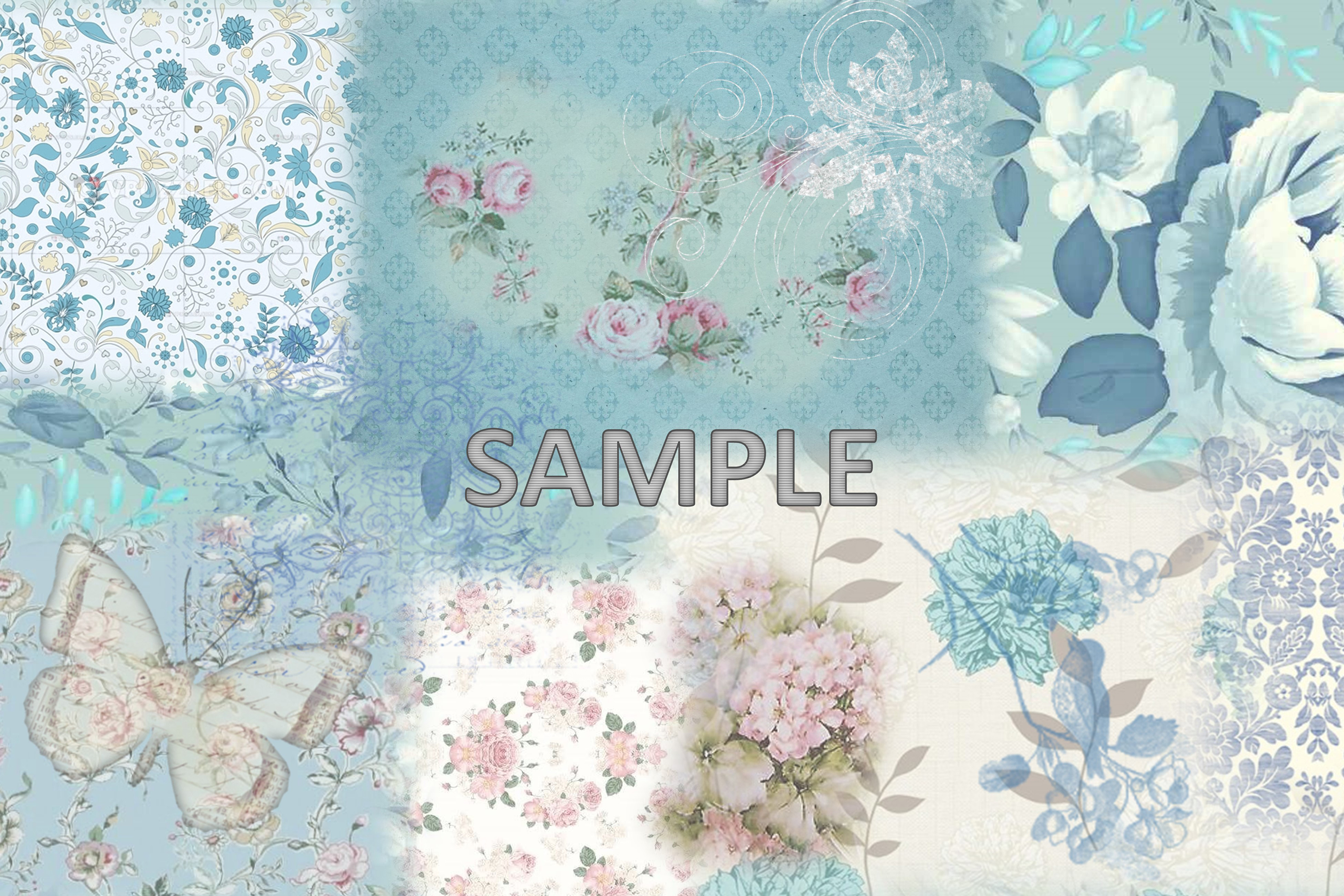 6 Shabby Chic Vintage Printable backgrounds PDF example image 7