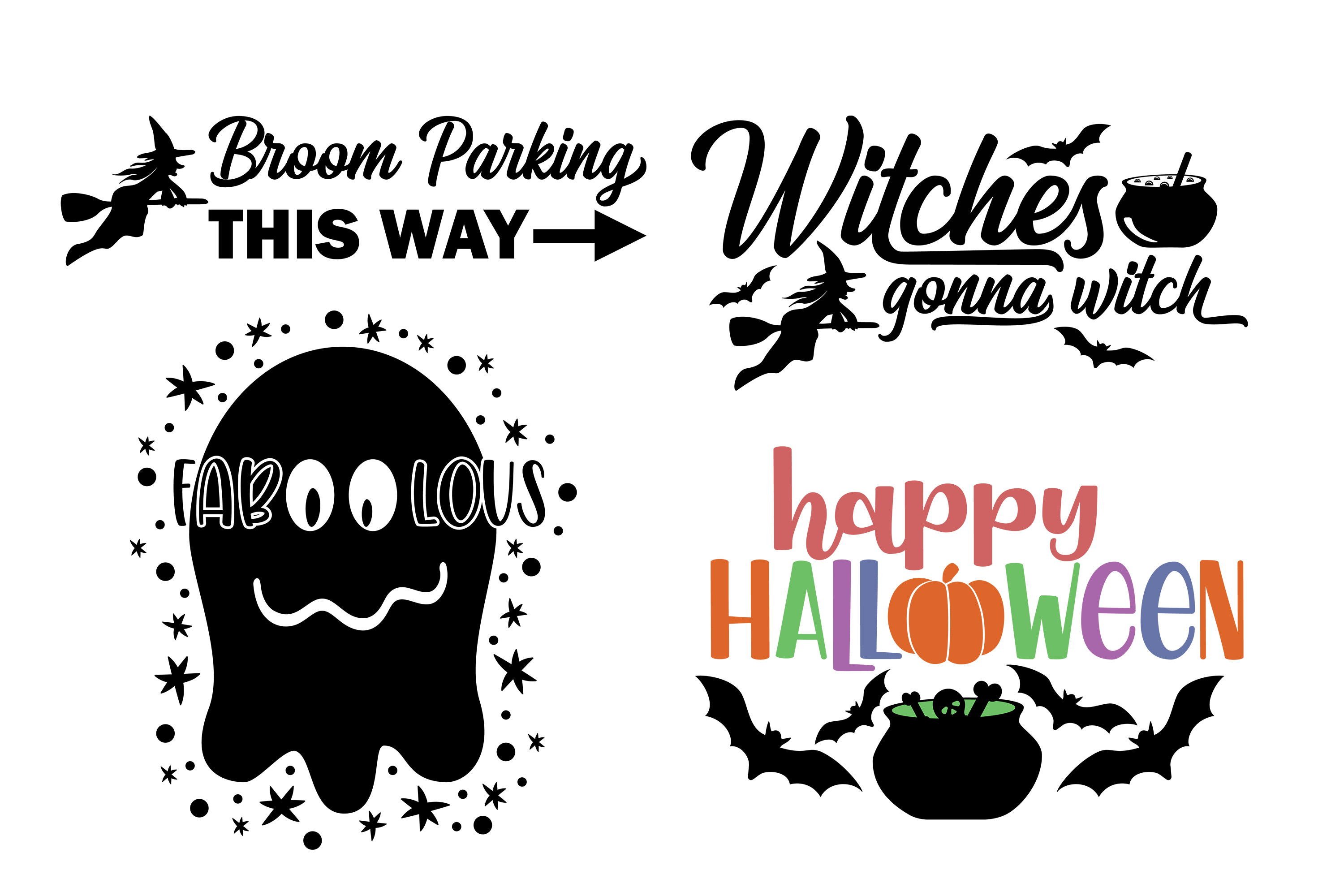 Halloween Bundle SVG DXF EPS PNG example image 4
