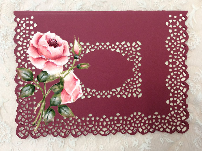 """Lacey cutwork edge 5x7"""" card example image 1"""