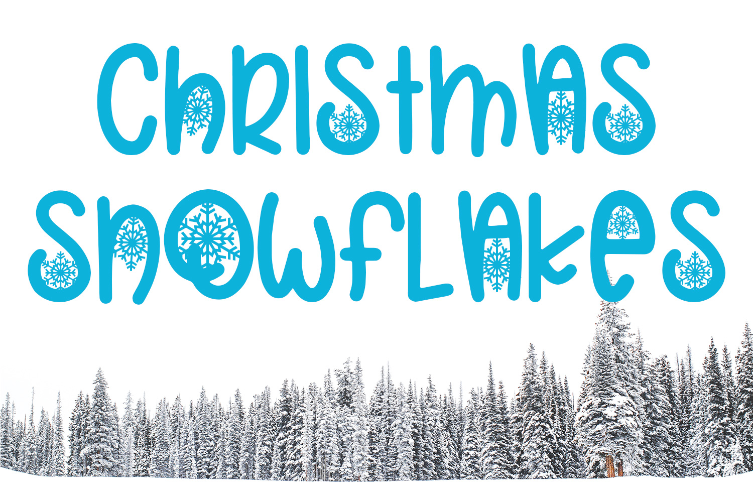 Christmas Snowflakes Font example image 1