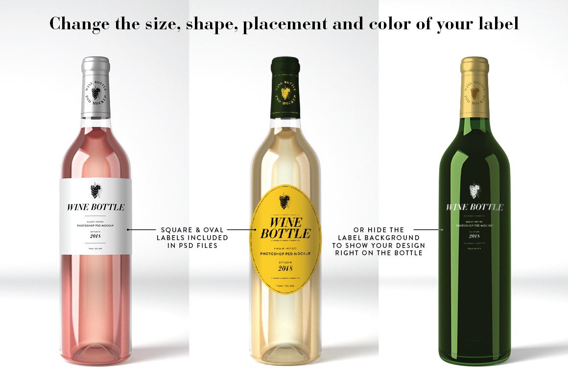 Wine Mockup Set - Photoshop PSD example image 2