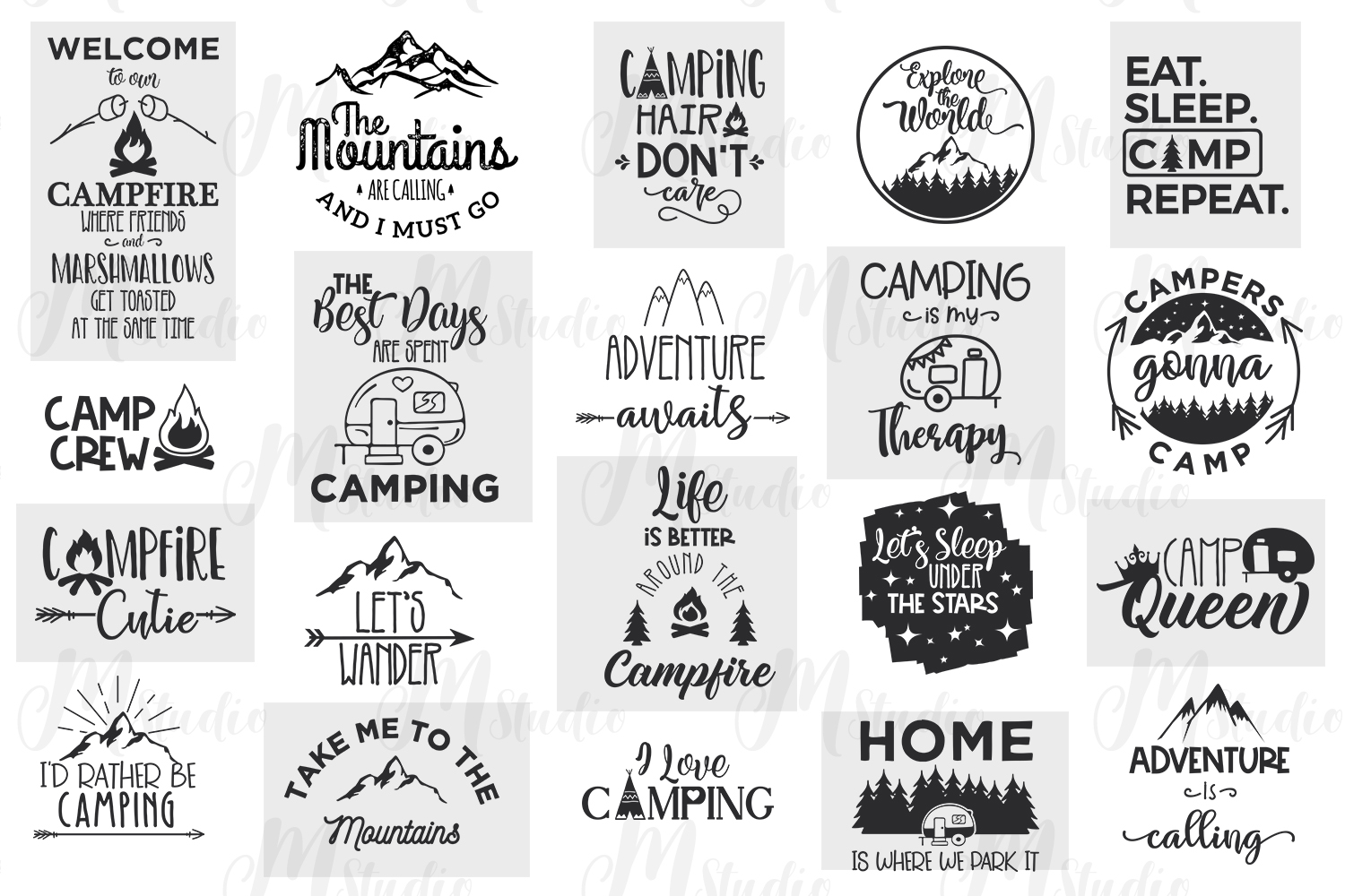 Camping SVG Bundle. example image 2