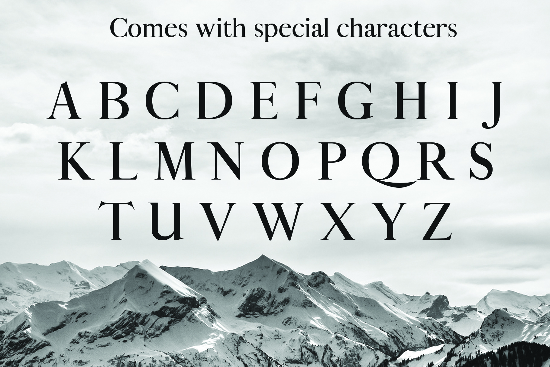 ALISTAIR FONT, A modern Serif example image 5