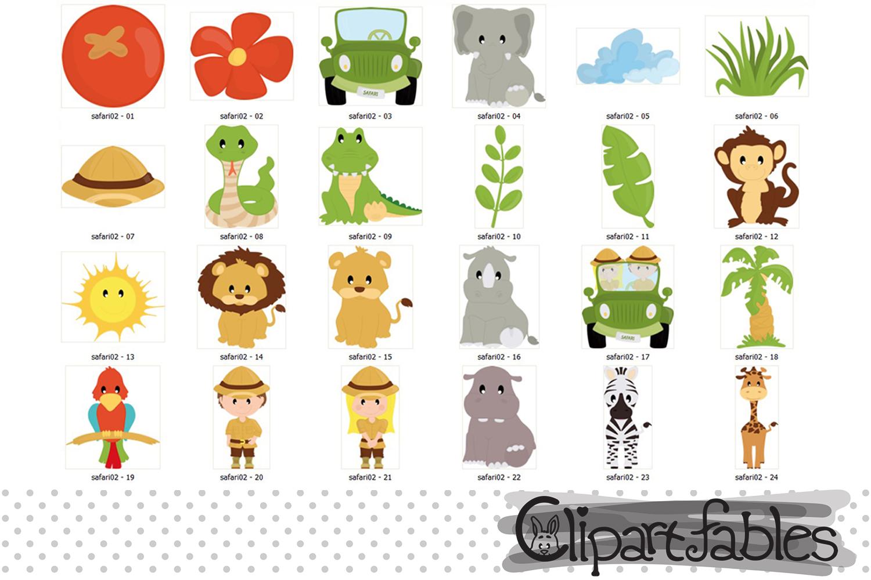 Safari friends, jungle animals cute animal design - instant example image 2