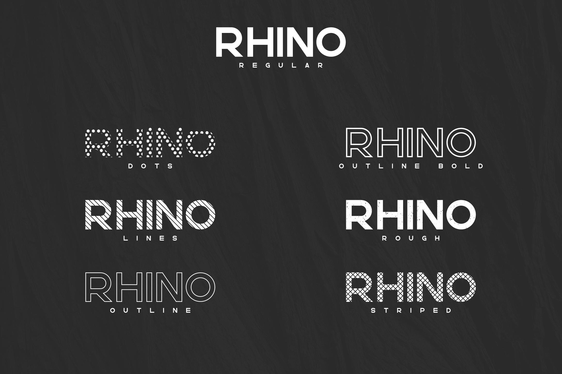 Rhino Bold font Styles example image 2