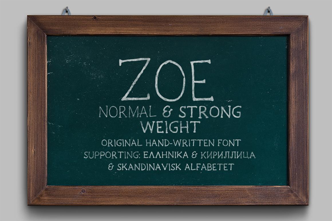 Zoe Handwritten Font example image 1
