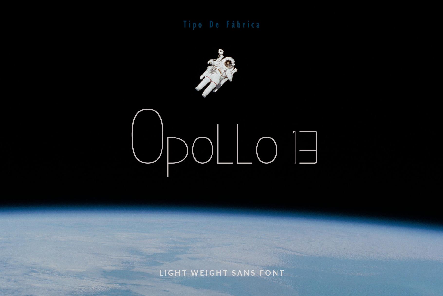 Opollo 13 font example image 1