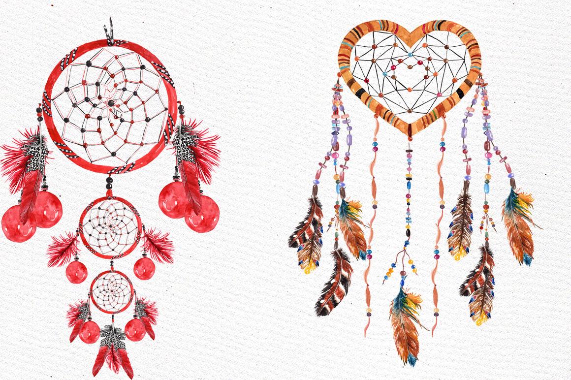 Dreamcatchers, Tribal clip art example image 3