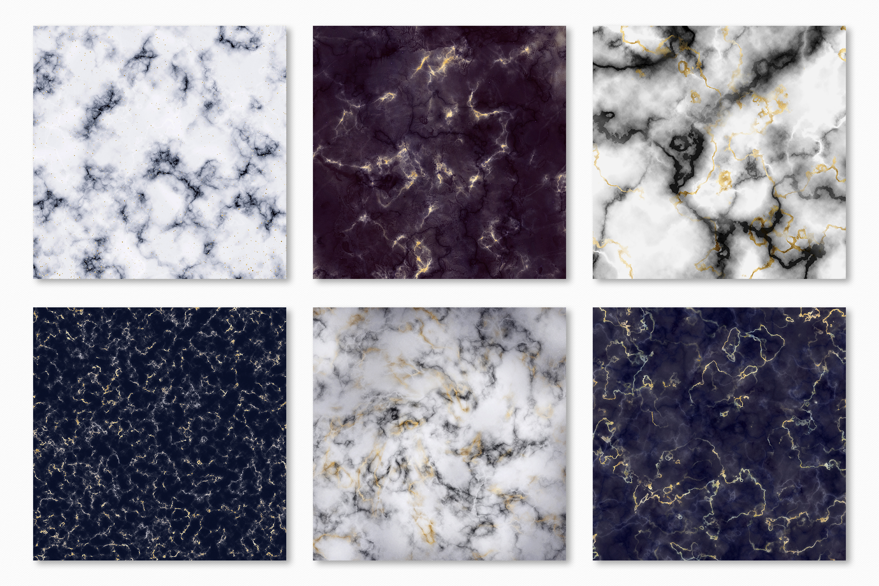 Marble Digital Papers - 10 Veined Marble Textures example image 12
