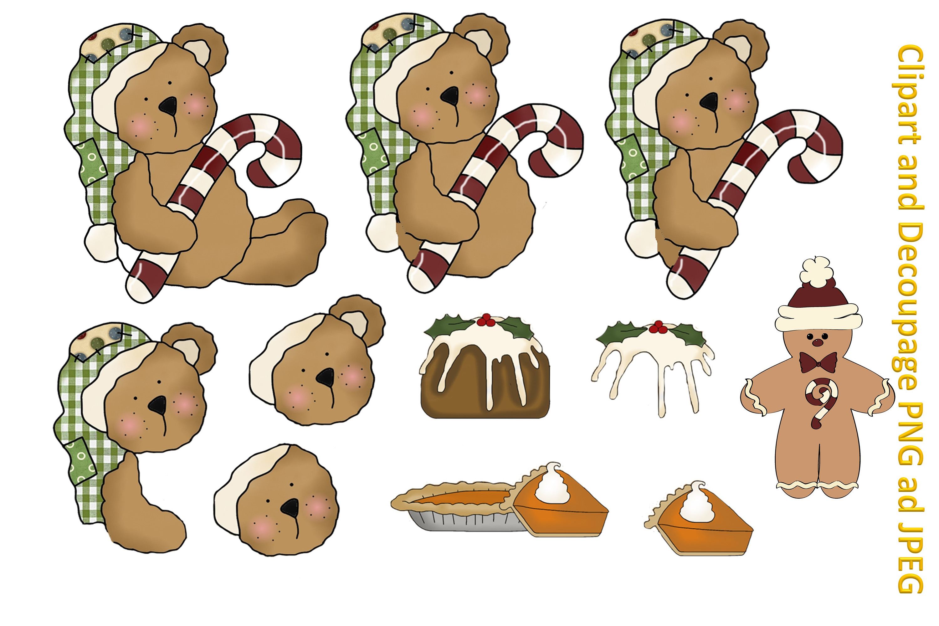 Christmas Crafts Bundle JPEG and PNG Commercial Use example image 6