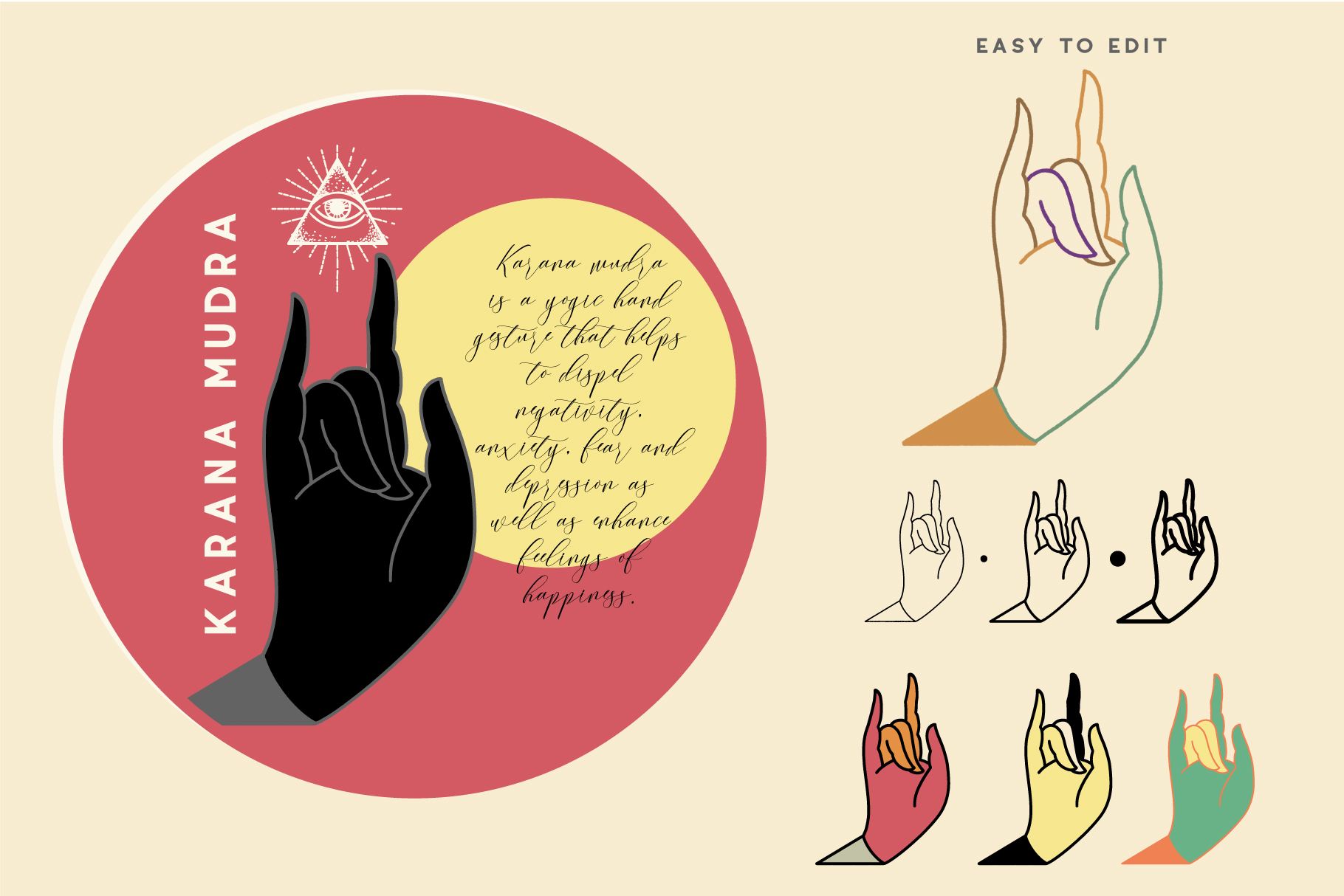 10 Mudras & Logo Pack. SVG/Ai/PNG example image 7