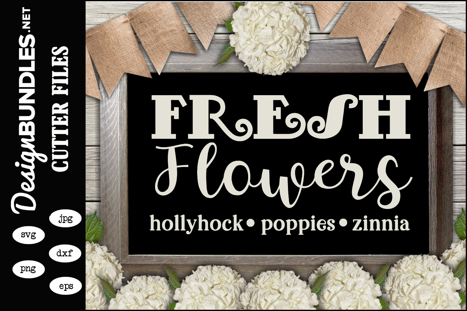 Fresh Flowers SVG example image 1