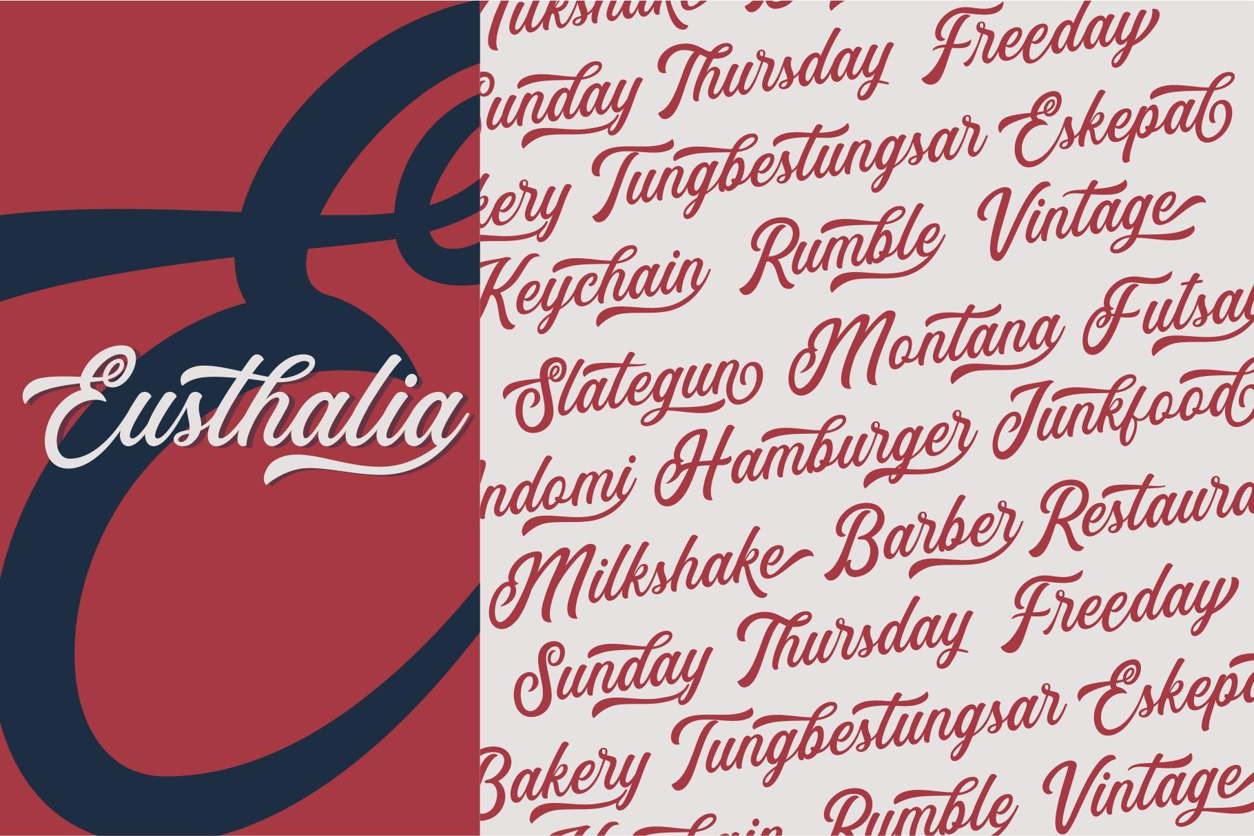 Eusthalia Typeface example image 5