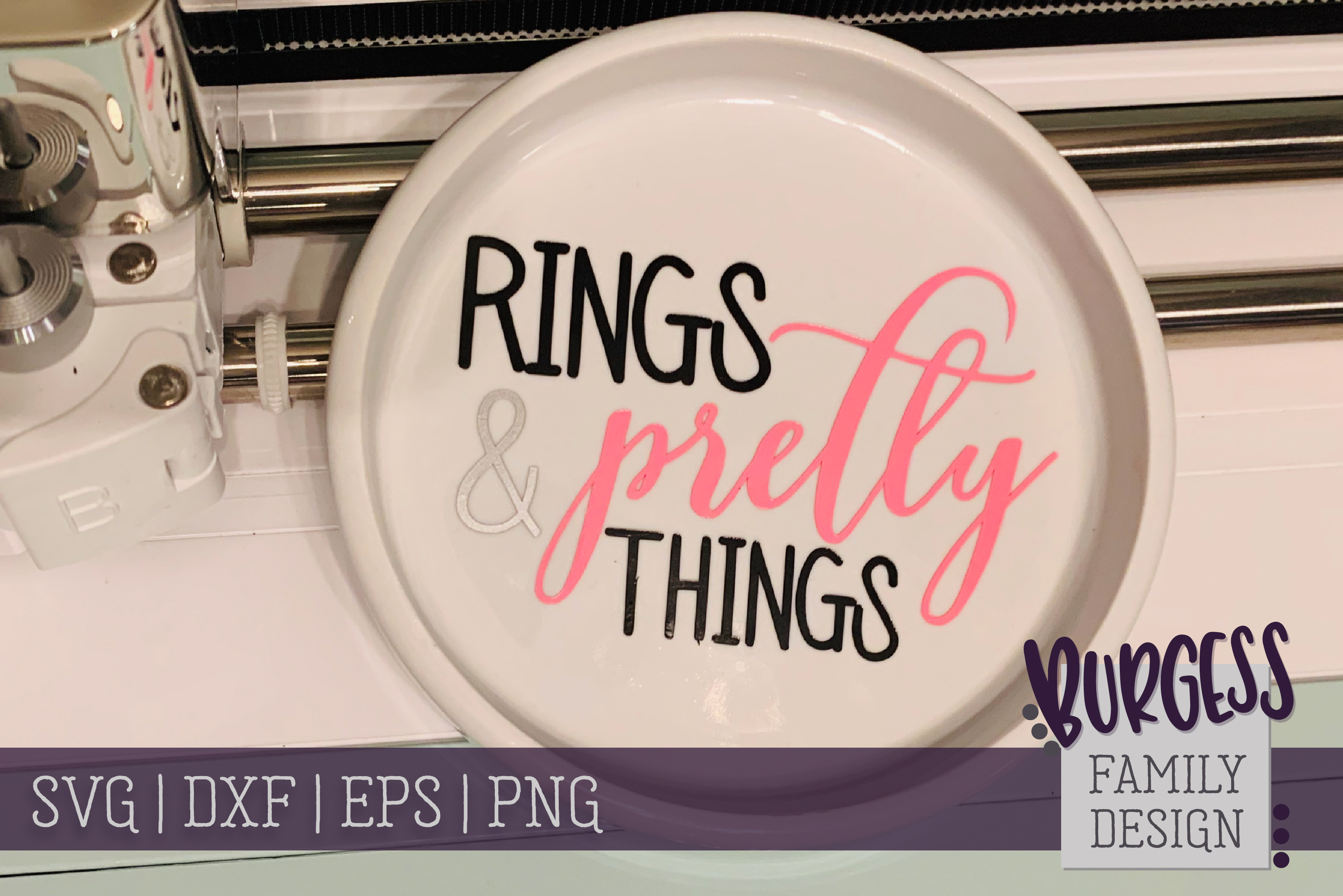 Rings & Pretty Things   SVG DXF EPS PNG example image 1