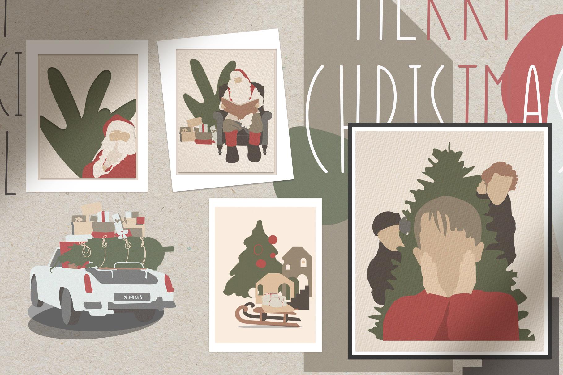 Christmas Secret Modern Graphic Set example image 7