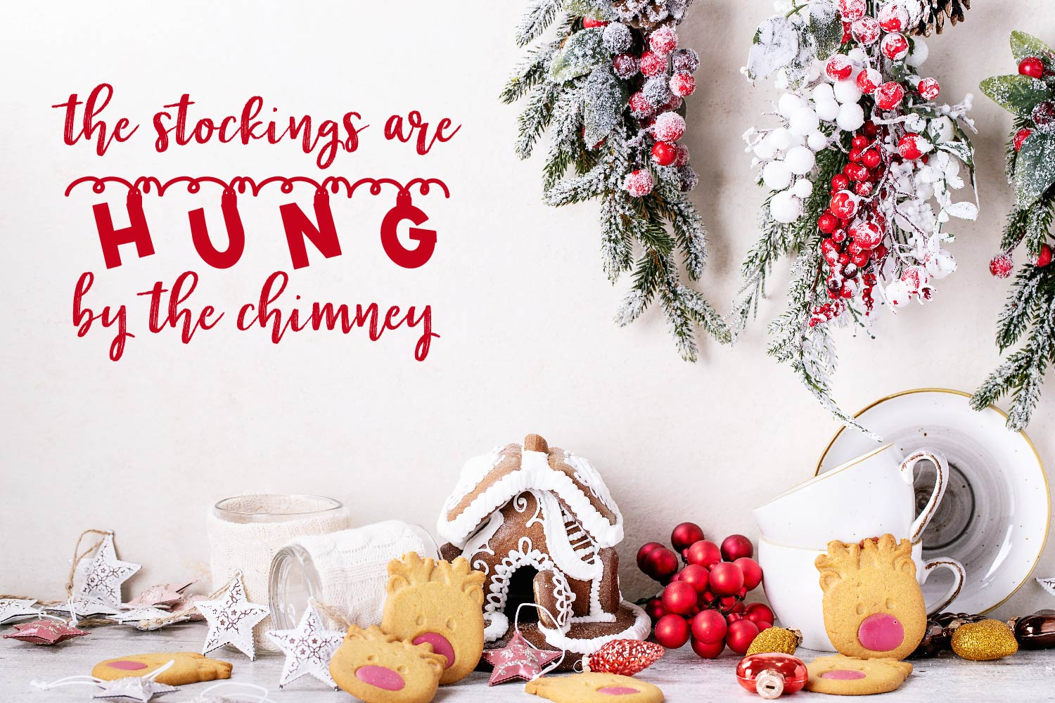 Chime - A Hanging Christmas Ornament Font example image 7