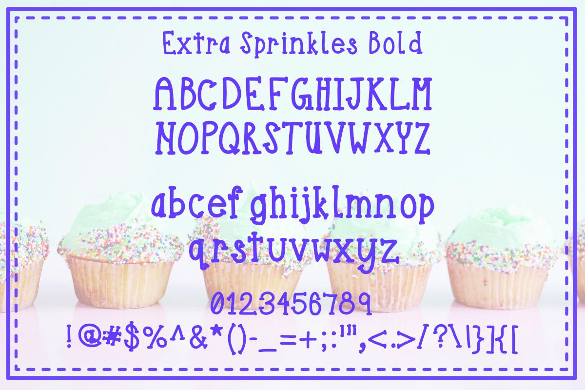 Extra Sprinkles Font Trio example image 2