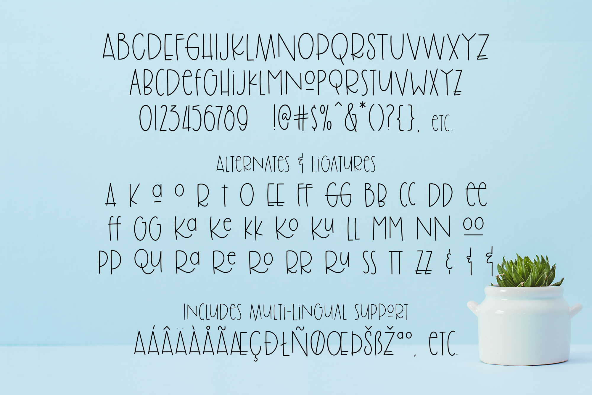 Brolly Fight, an off kilter font example image 10