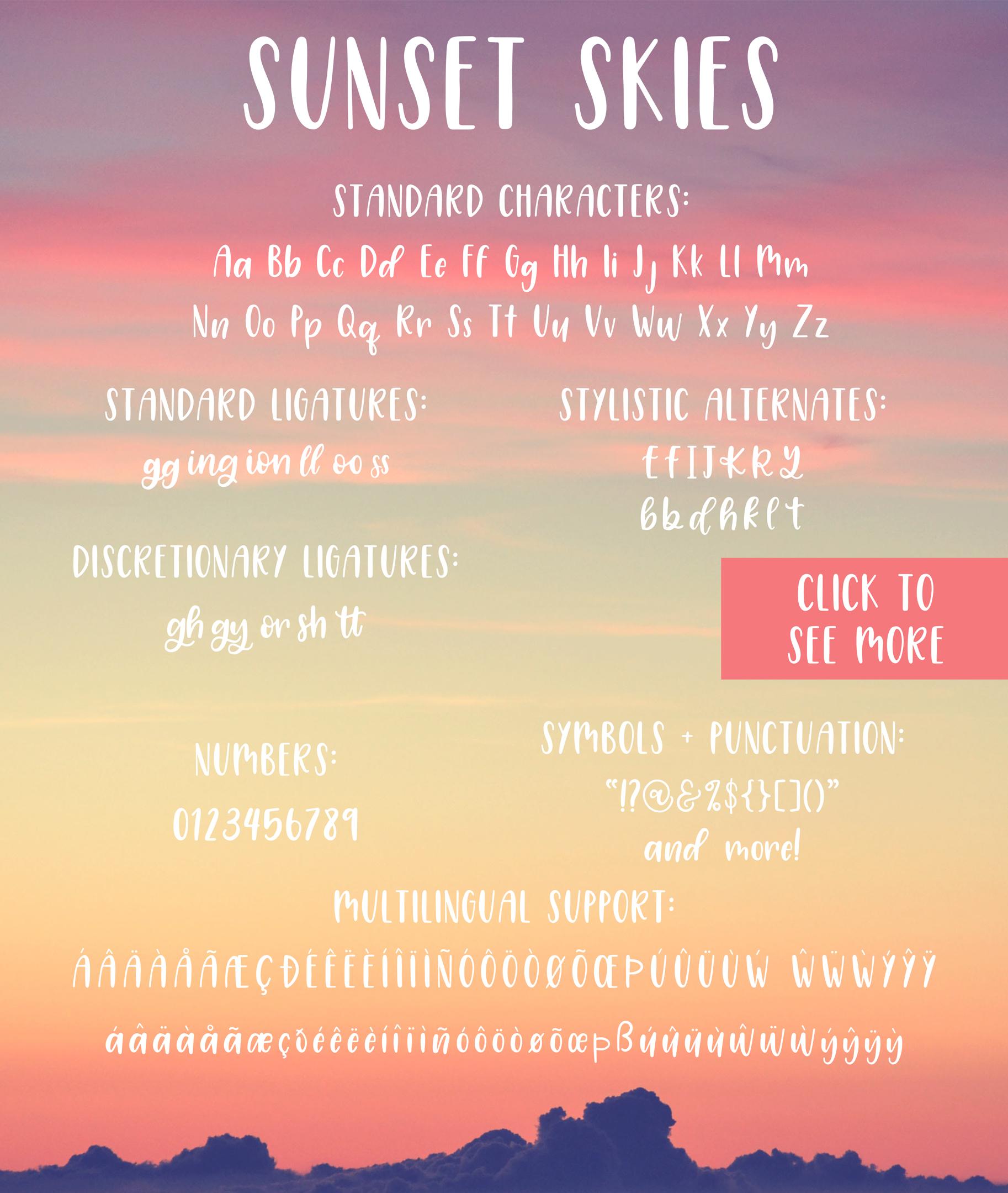 Sunset Skies Handwritten Sans Serif Font example image 7