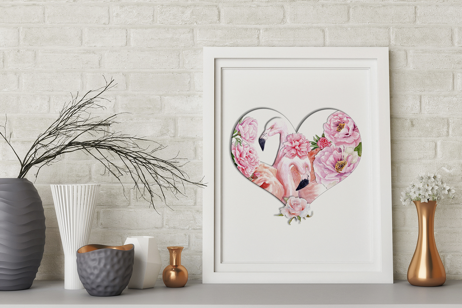 Watercolor Valentine's Day example image 2