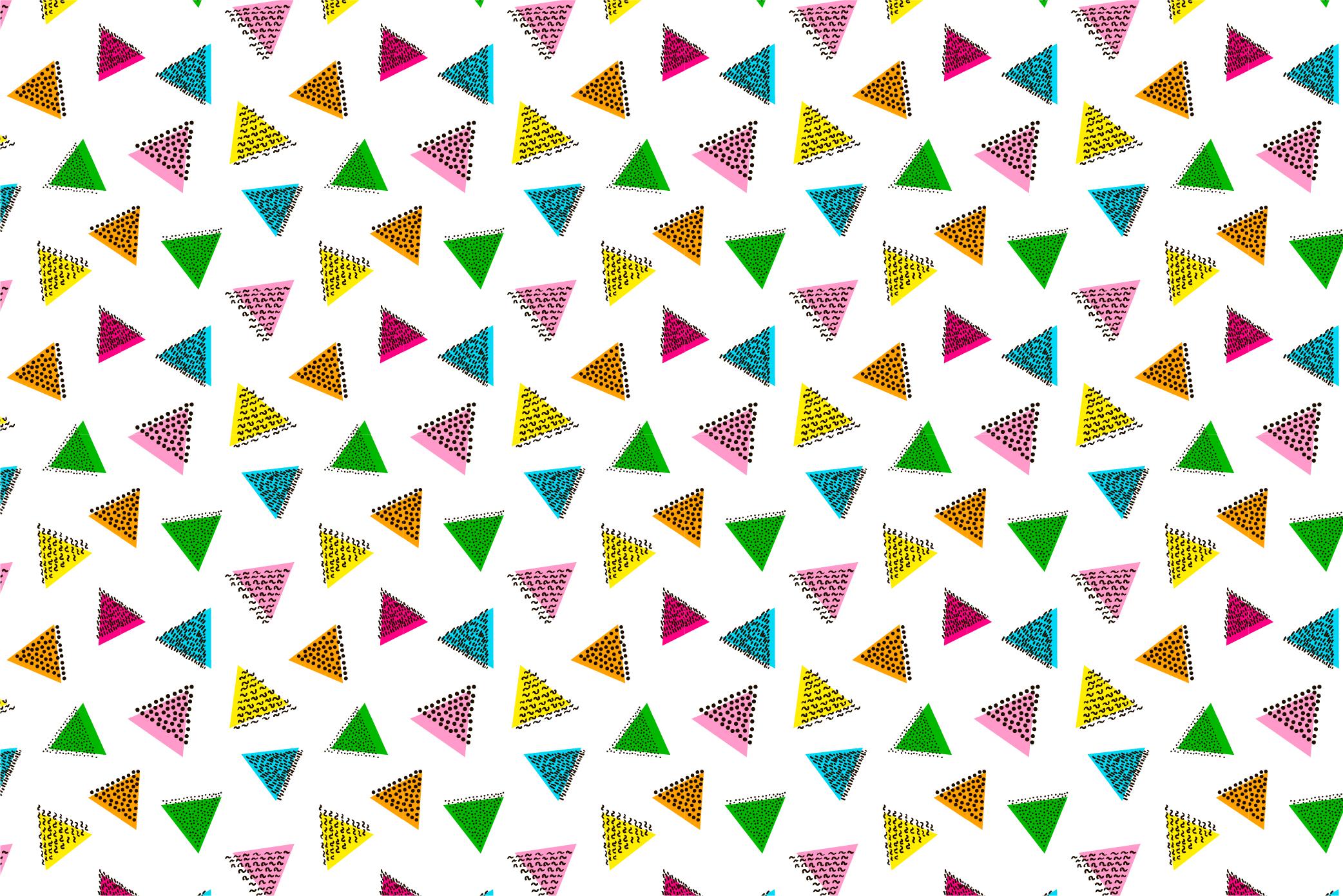 9 Geometric seamless patterns. Ai, EPS, JPG, SVG example image 3