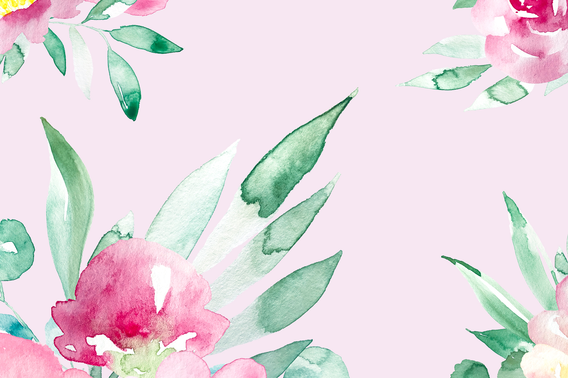 Pastel watercolor spring floral illustrations example image 2