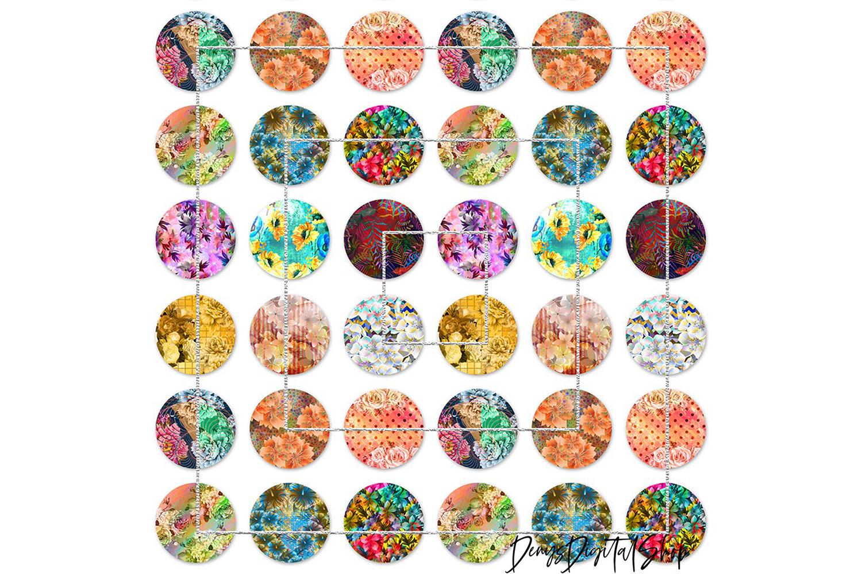 Digital Collage Sheet,Flowers Digital Images,Printable Image example image 4