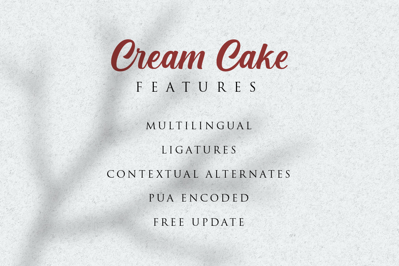 Cream Cake | New Bold Script Font example image 8