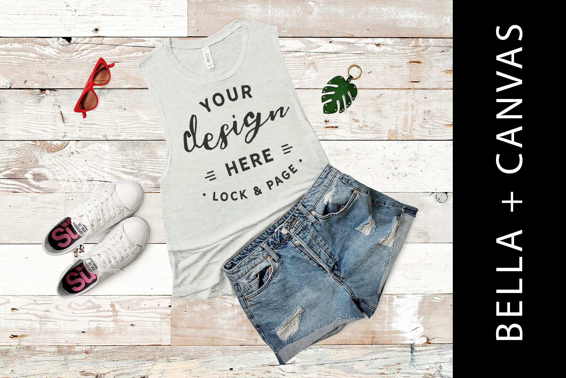 Heather Sand Bella Canvas 8803 Summer Apparel Mockup example image 1