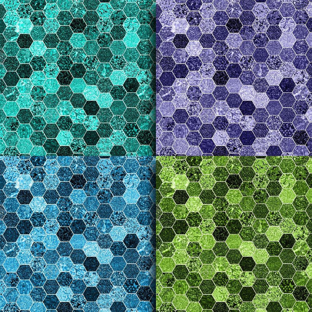 Glitter Honeycomb Digital Paper example image 4