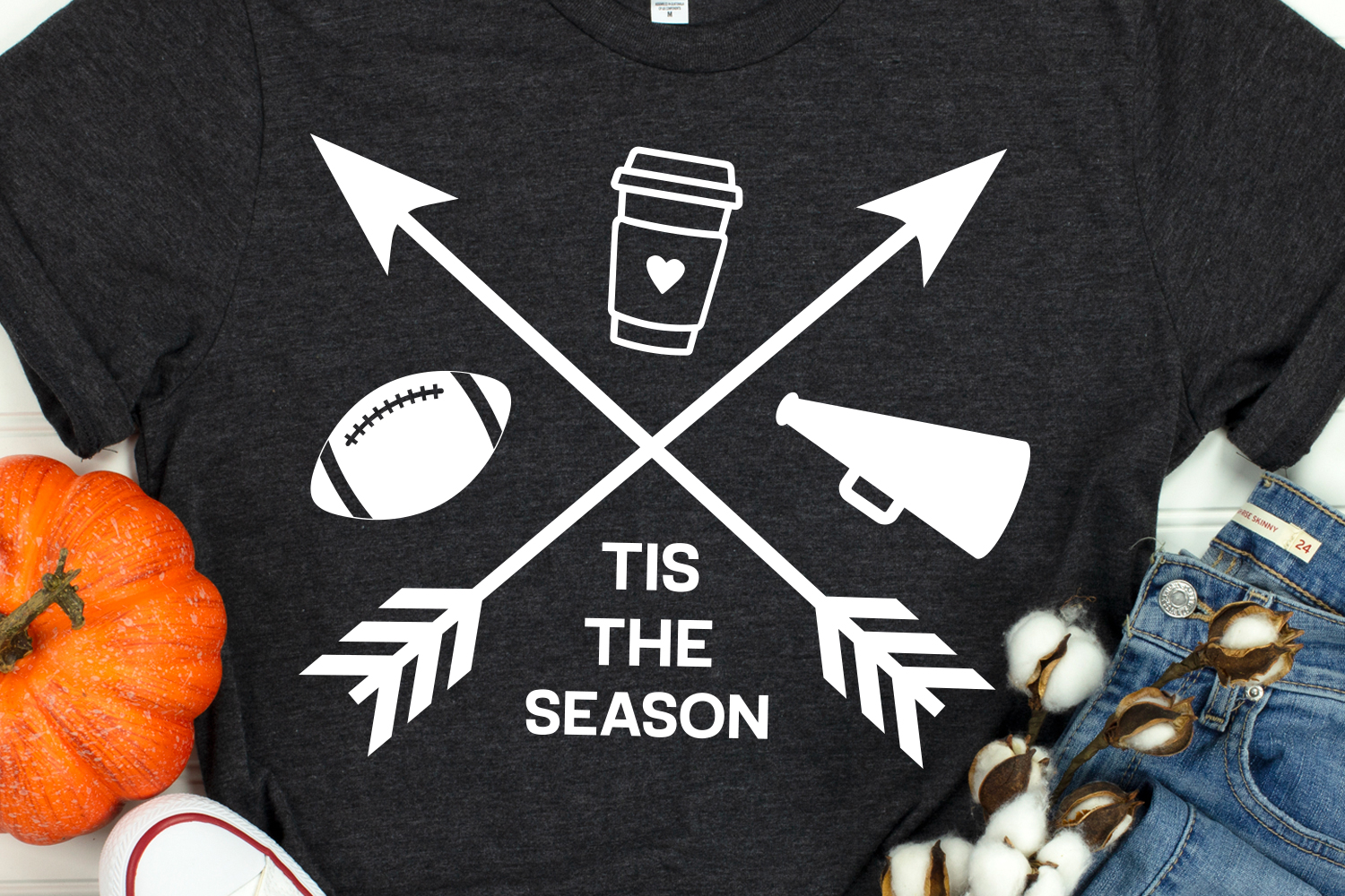Football Shirt Svg, Football & Lattes Svg, Tis the Season example image 1