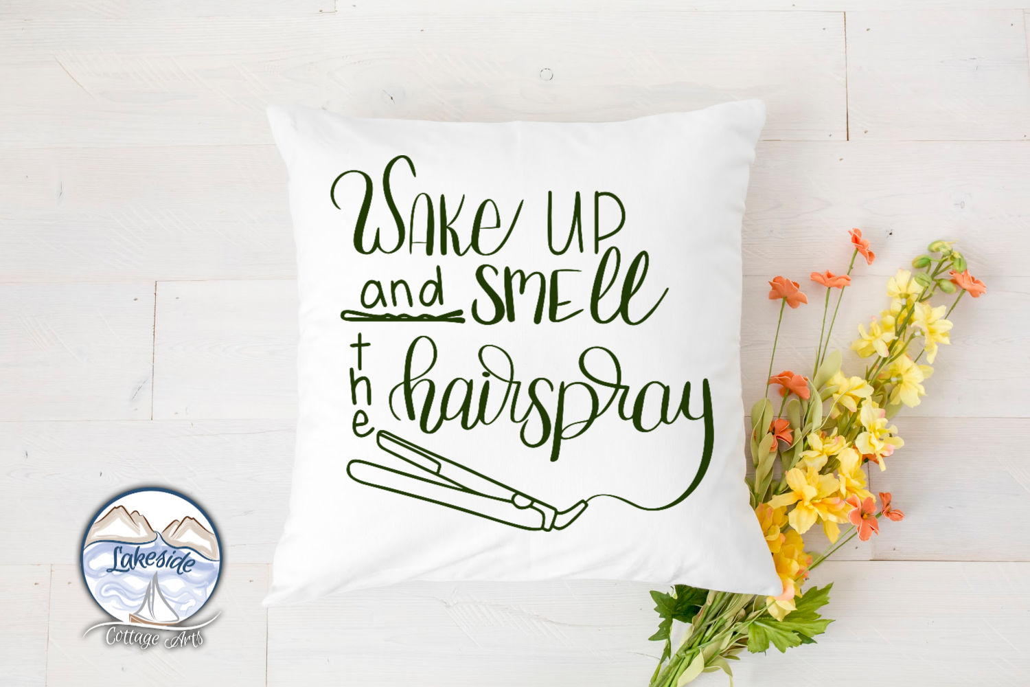 Wake Up and Smell the Hairspray Handl-ettered Hair SVG example image 4